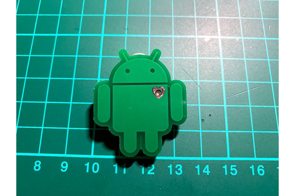 Android ❤️ programmable pin badge 1