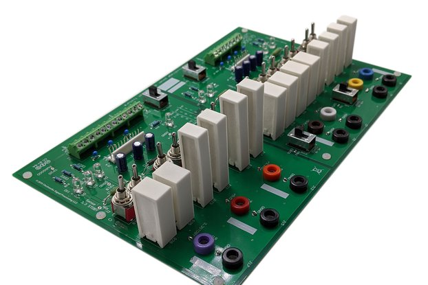 Multi output power supply load system: PCB + parts