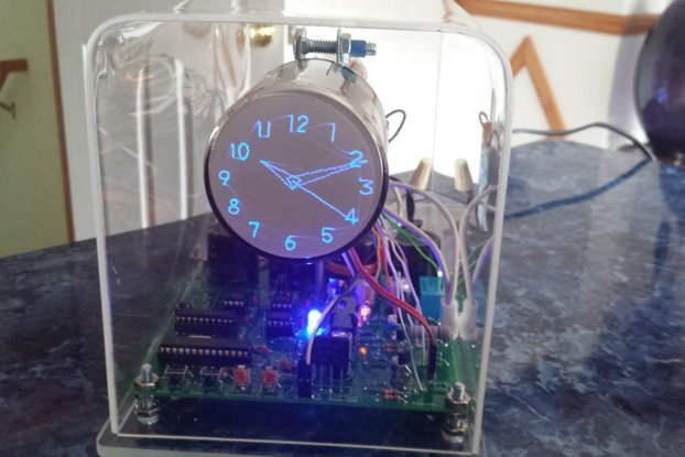 Oscilloscope Clock blue 6LO2A Cathode Ray Tube CRT