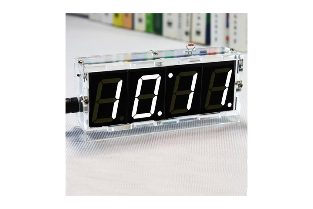 DIY 4 Digit LED Clock and thermometer 1