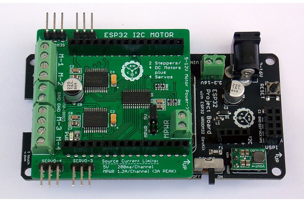 Esp32 Project Board + Quad Motor & Servo Shield