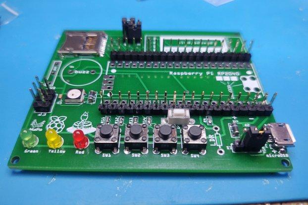 Raspberry Pi Pico teaching board V2