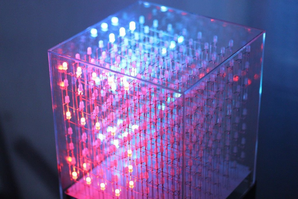 AuraCube 8x8x8 3D RGB LED Cube DIY Kit 7