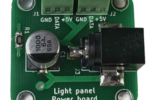 96 well RGB light panel power board