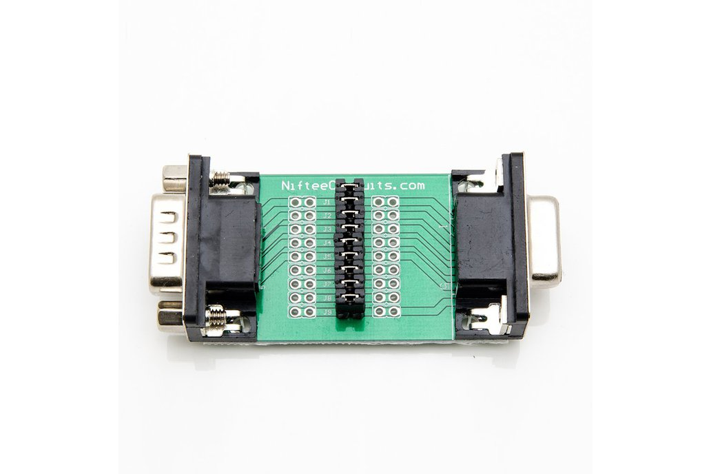 D-Sub Male/Female Interface Breakout Board - DB9 1