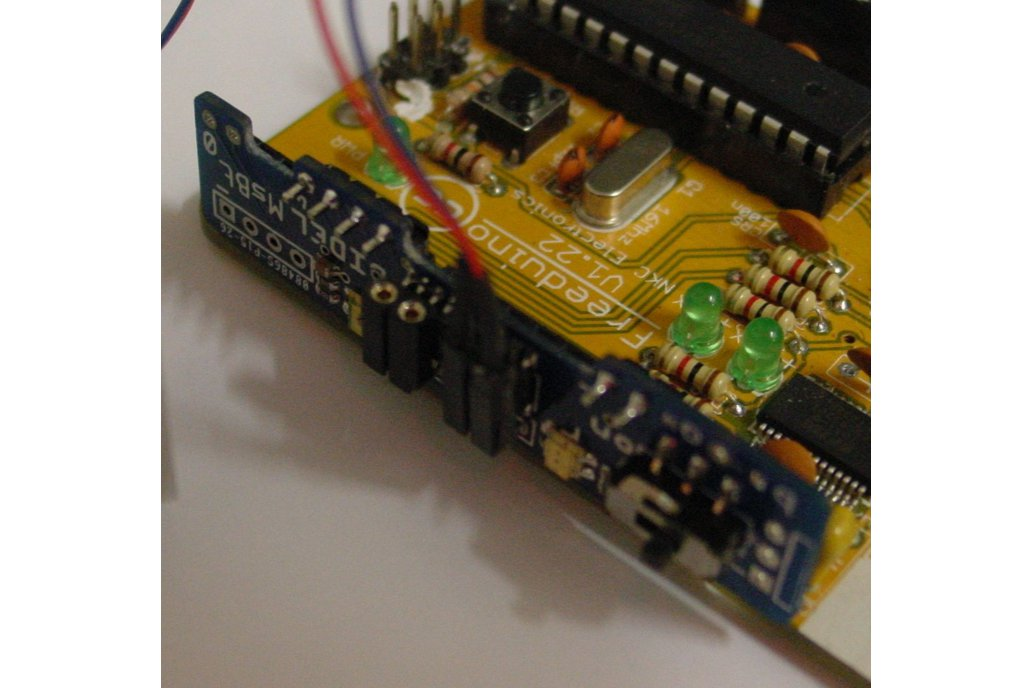 Mini-shield for two motors with LEDs and powerOff 7