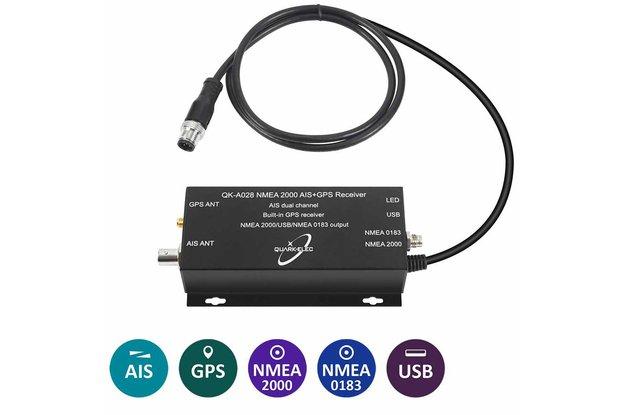 QK-A028 AIS Receiver + NMEA 2000 Converter + GPS