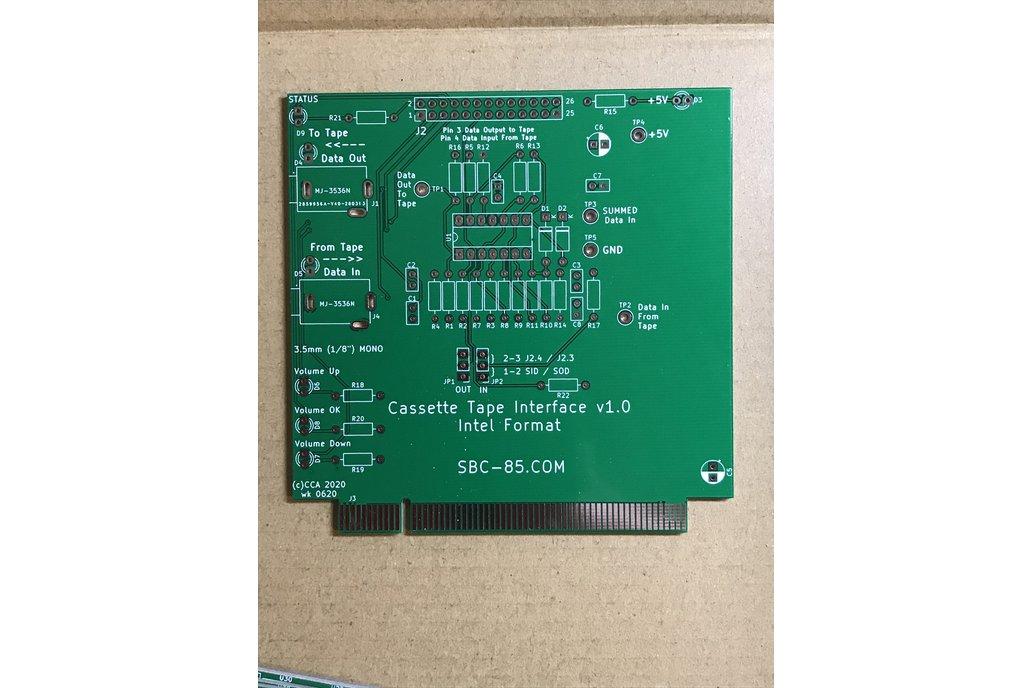 SBC-85 Cassette Tape Interface - Tin - BARE BOARD 1