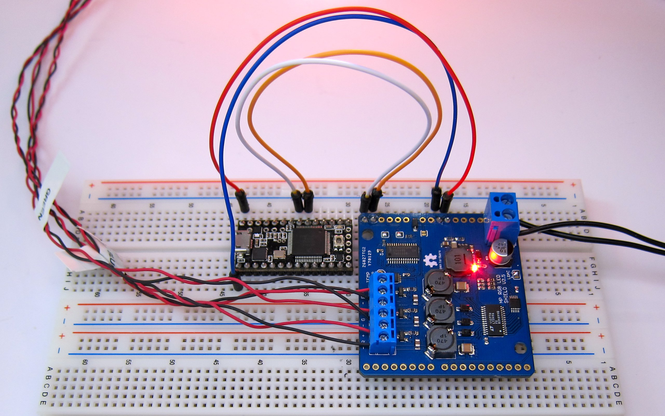 High Power Rgb Led Shield I2c 12bit Ch Dimming From Driver Chip Application Circuit With Interface 4