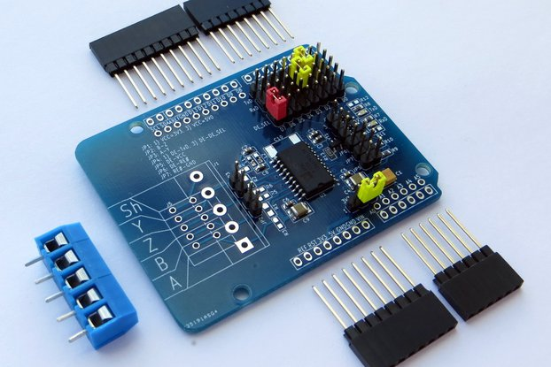 RS-485/RS-422 Isolated Transceiver Arduino Shield