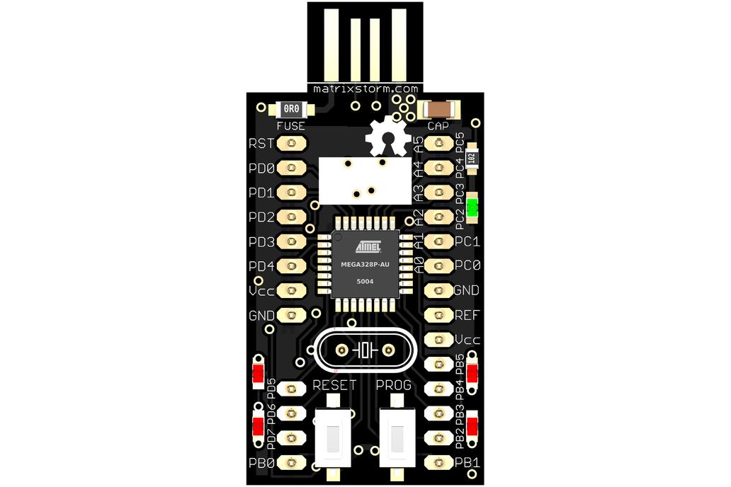tinyUSBboard - Rev. 4 SMT kit  --rare ATmega328p special edition-- 1