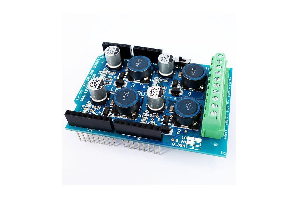 4 channel PWM high power led shield for Arduino 1