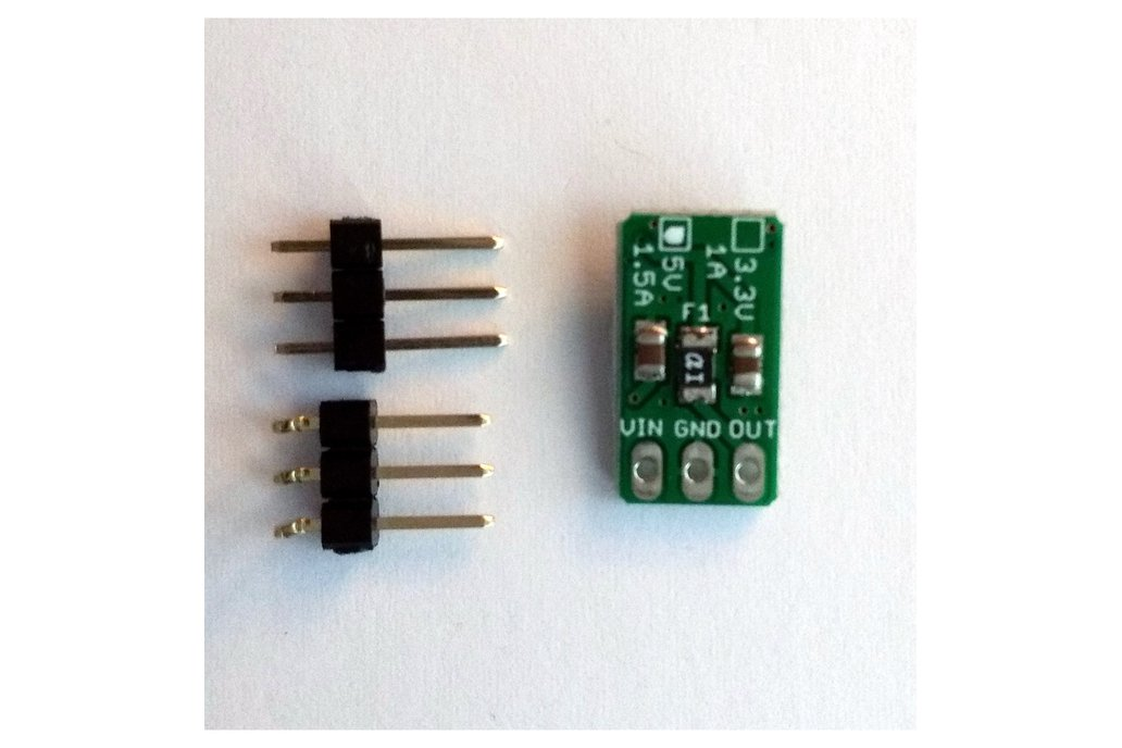 5v/1.5A 3-pin Linear Voltage Regulator w/polyfuse 1
