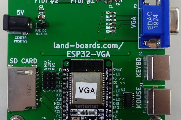 ESP32 VGA, Keyboard, Mouse Card V2 (PCB Only)