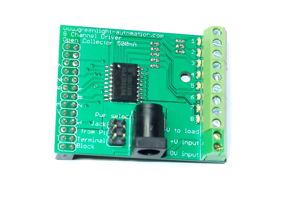 Eight Channel driver board for Raspberry Pi 1