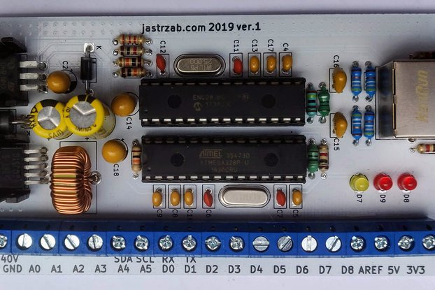 Network Arduino compatible board