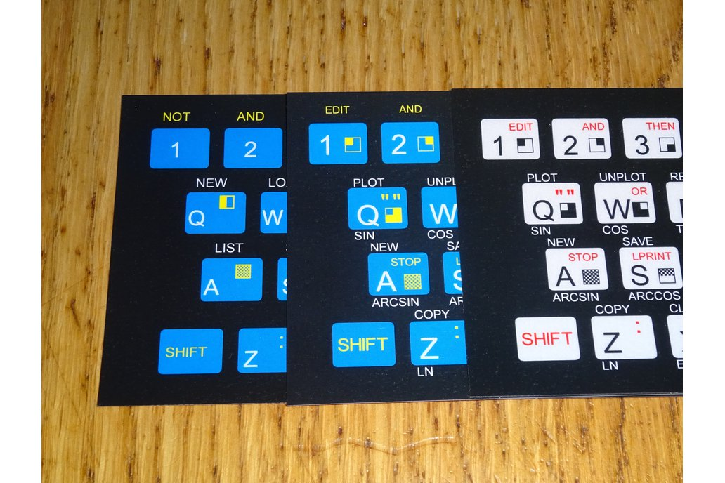 Keyboard overlays for TS1000/ZX80/ZX81 4