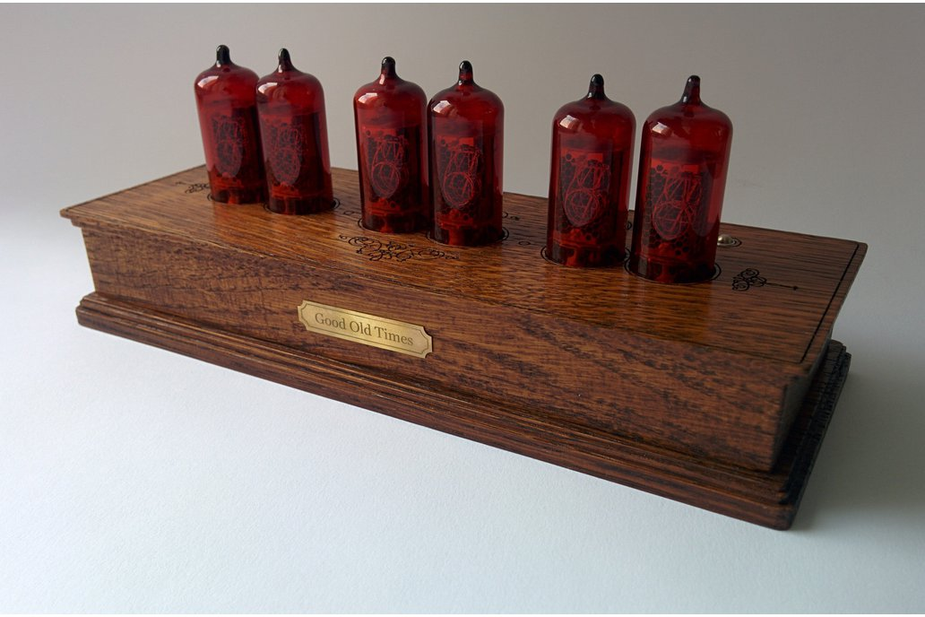 Vintage Nixie Clock On Z573 Tubes In Wooden Case 1