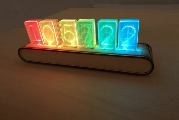 NIXT CLOCK - RGB WiFi Acrylic Nixie Kit esp8266