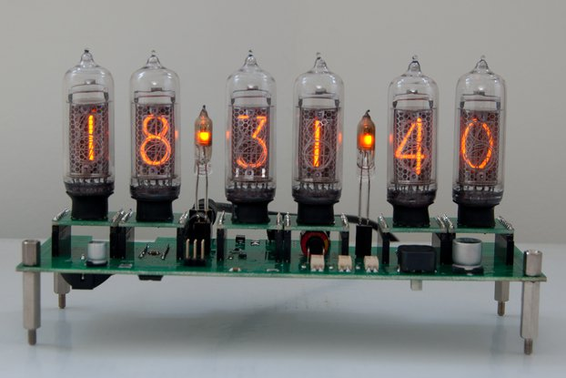 Nixie Clock with 7 replaceable tubes IN-14