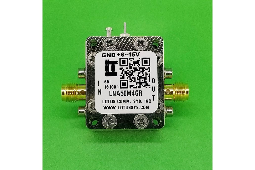 Broadband LNA 0.8dN NF 50MHz~4GHz with LDO 1