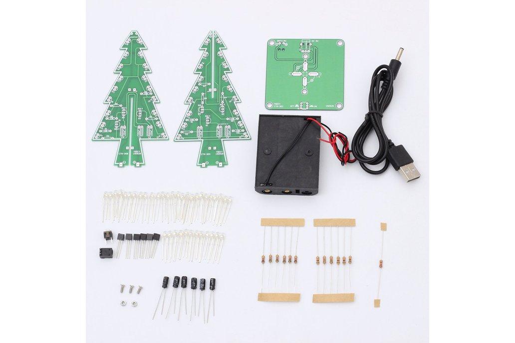 DIY 3D Xmas Tree 7 Color Flash LED Kits(7213) 5