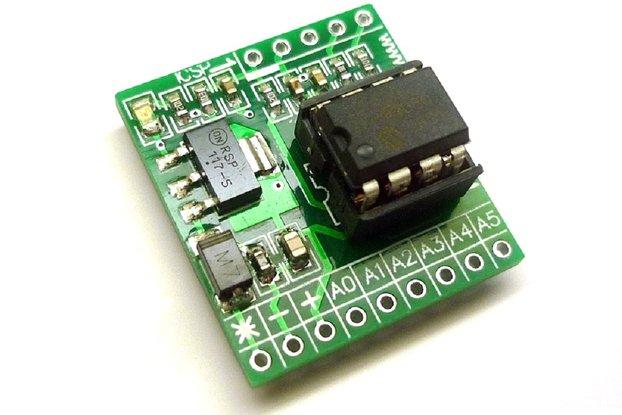 iCP07 (PIC12F675) - Microchip 8-pin PIC12 IO board