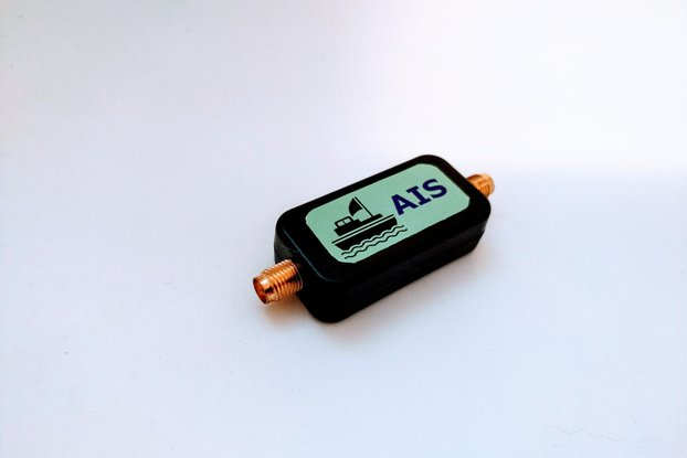 AIS Receive Band Pass Filter 162MHz with Enclosure