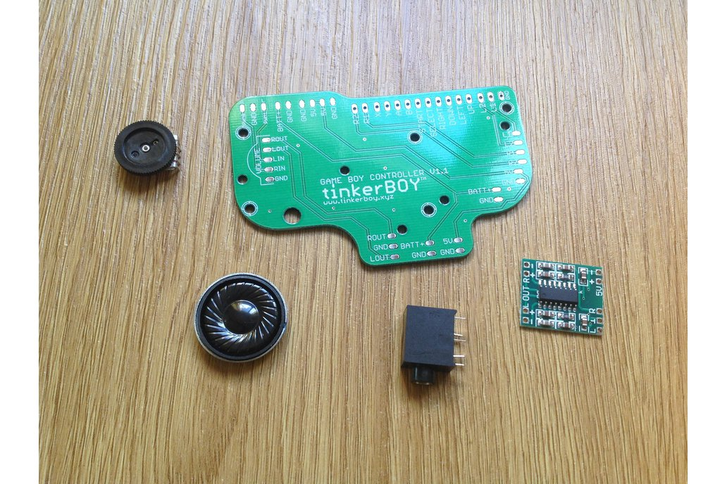 Game Boy Controller v1.1 PCB w/ accessories 1