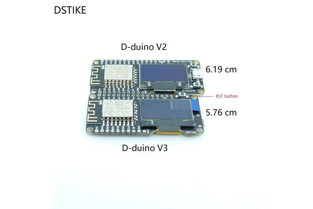 D-duino V3(Arduino&NodeMCU&ESP8266&0.96OLED) 3
