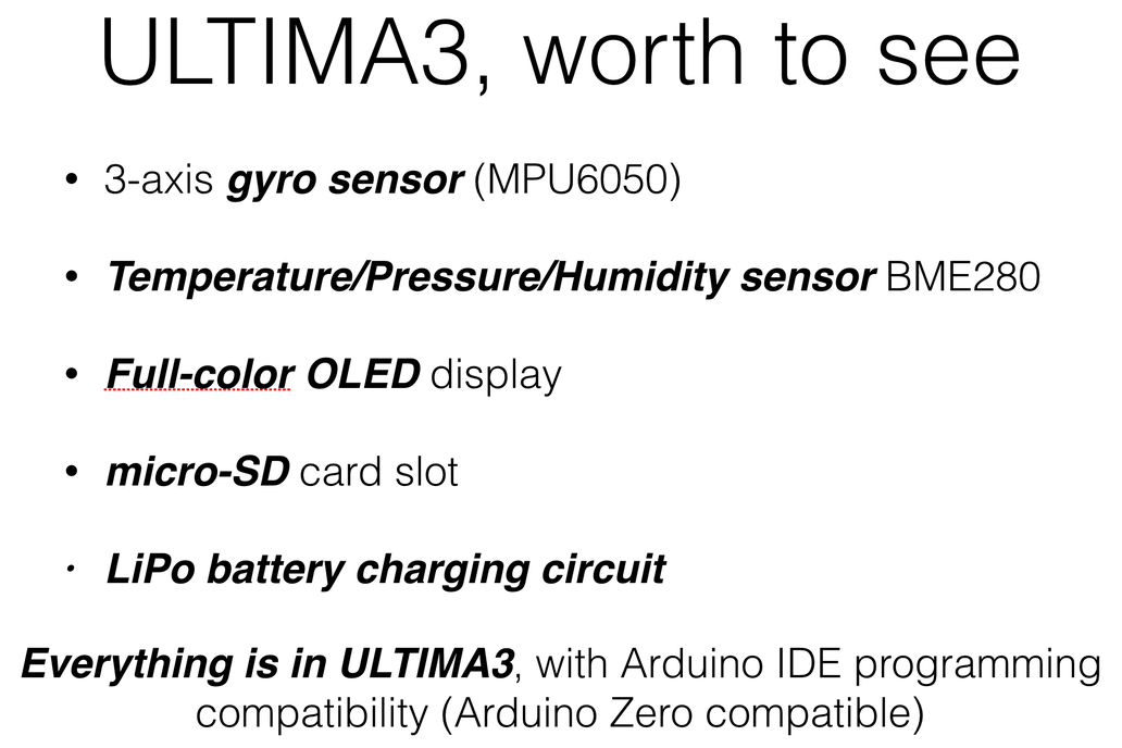 ULTIMA3, a sensor nugget all in one 3