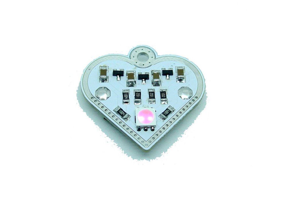 Pink blink Valentine heart - LED learn solder KIT 1
