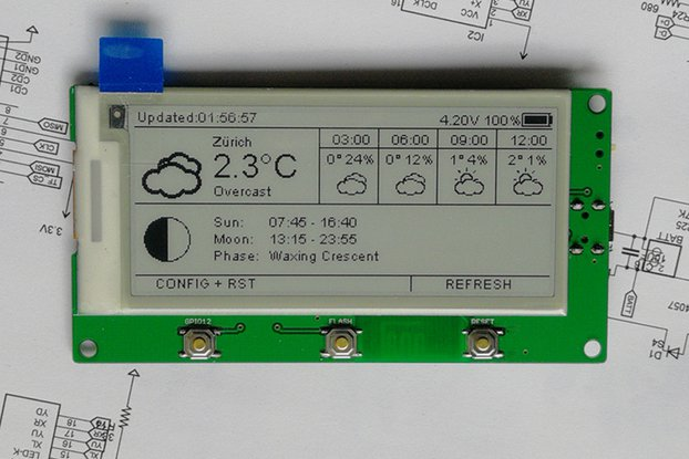 "AZSMZ EPaper 2.9"" with USB-to-Serial"
