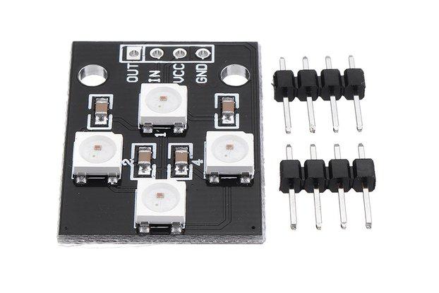 WS2812B-4 5V 5050 RGB LED Lamp Panel Board 4-Bit