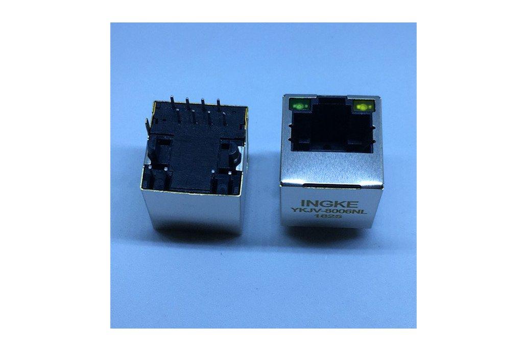 SI-46001-F 1 Port Vertical  RJ45 Magnetic Jacks 1