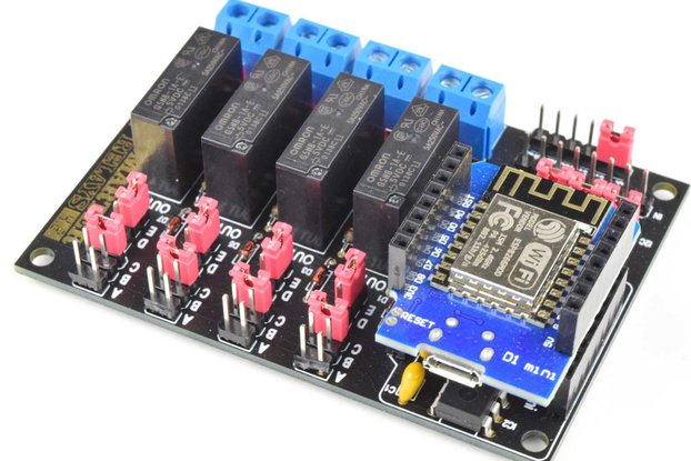 Wifi Relay Module 4-Channels DIY Soldering Kit