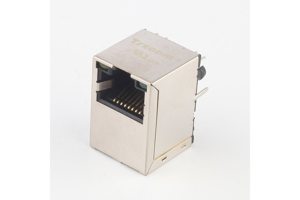Vertical RJ45 Connector with 1000Base-TX HR871190A 1