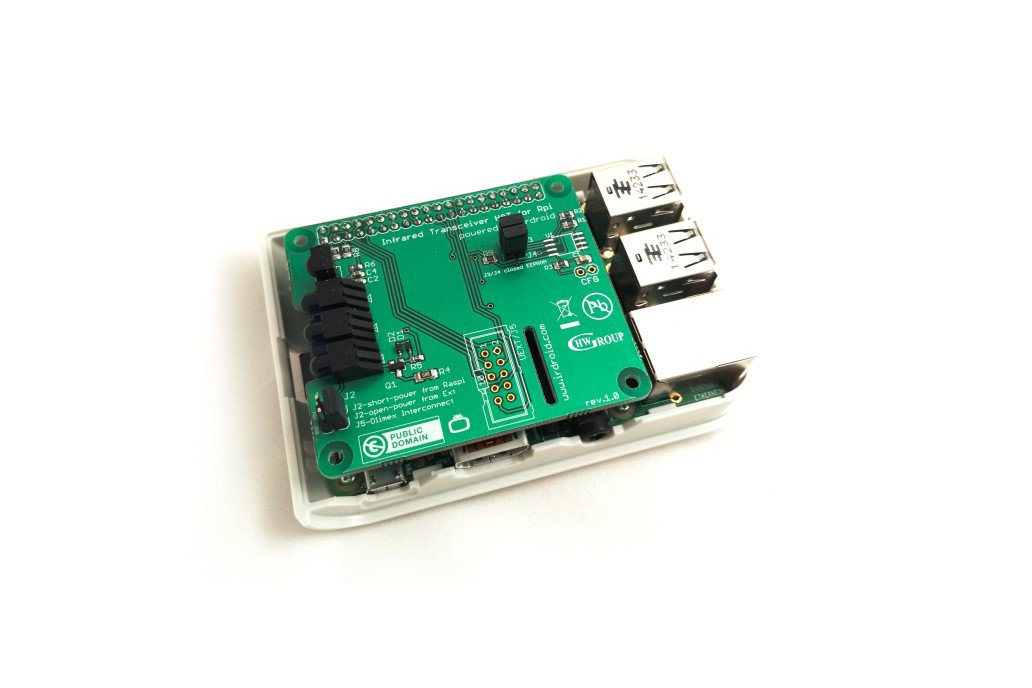 Irdroid-Rpi Infrared Transceiver for Raspberry Pi 3