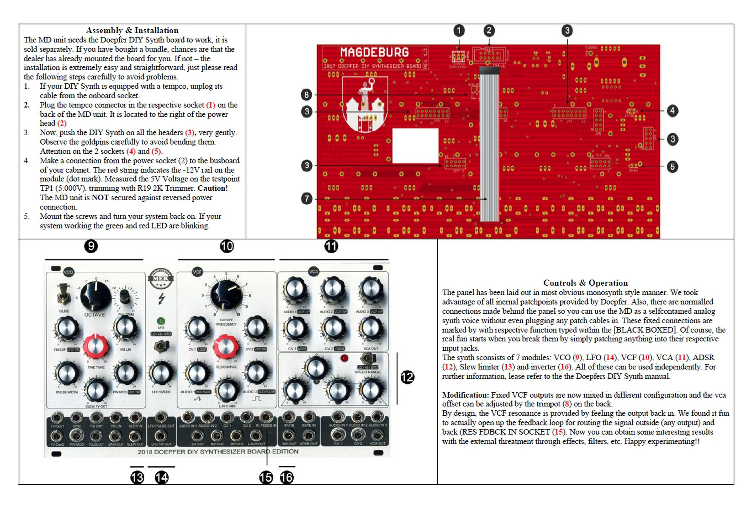 Electronic Media Wiring Enclosure Block Diagram Explanation Structured Uk Doepfer Diy Synth Edition Quot Magdeburg Bundle From On Tindie Smallest