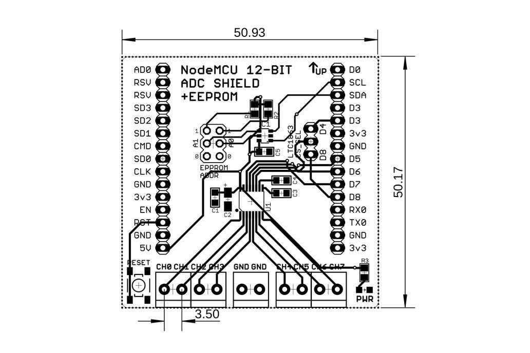 12-Bit/8-Chan ADC w/EEPROM for Wireless Dev Board