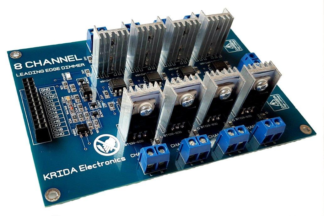8CH AC LED Light Dimmer Module Controller Board V3 1