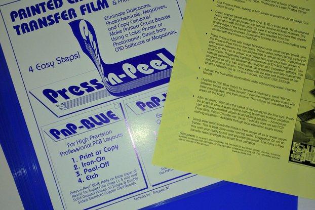 Press-n-Peel Blue PCB Film