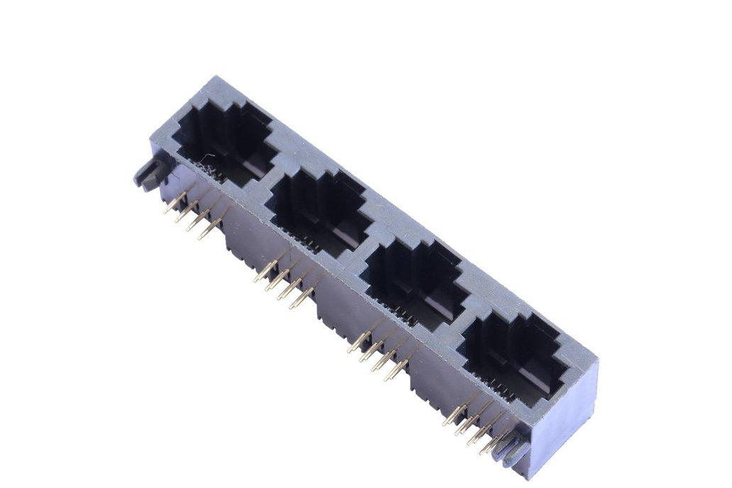 1X4 Port 8P8C RJ45 Connectors without Magnetics 1