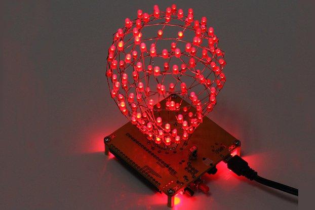Red Flashing Light Ball LED Cube Kit (13049)