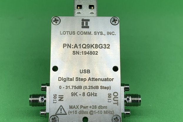 1 Chan 32 dB Programmable Attenuator 9K-8GHz (USB)