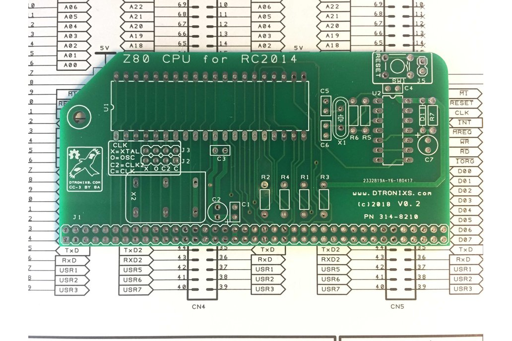 Z80 CPU Card for RC2014 (with clock and reset) 1