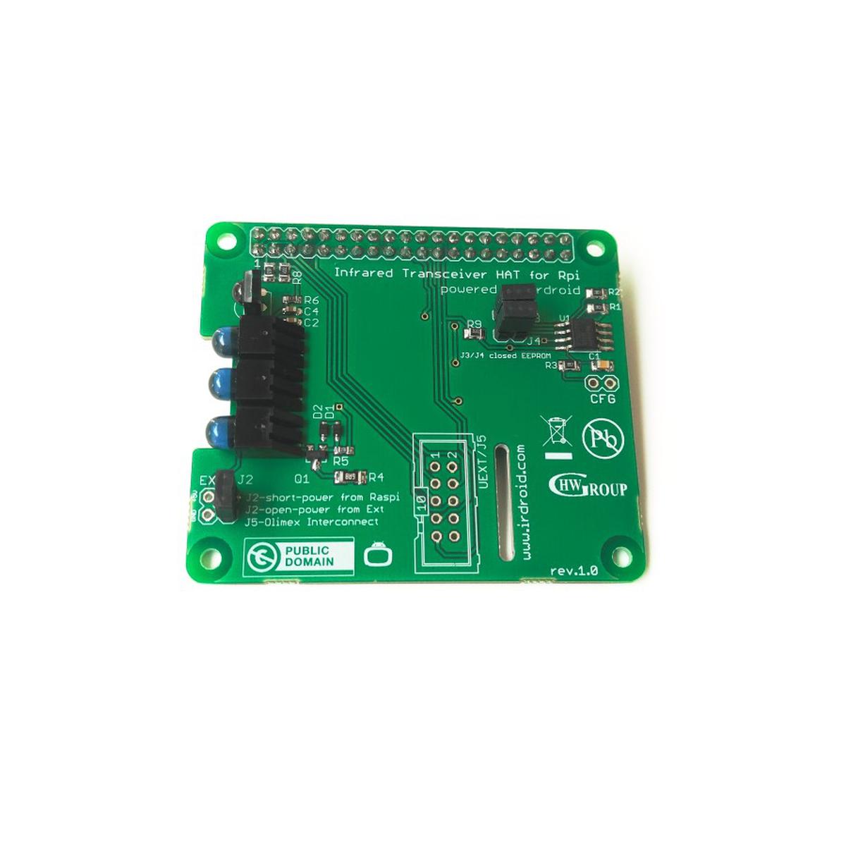 Irdroid-Rpi Infrared Transceiver for Raspberry Pi from