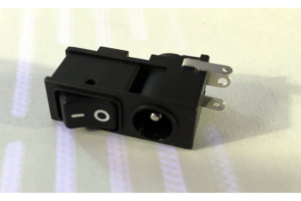 Adafruit Rocker Switch DC Plug - Fatshark Button 1