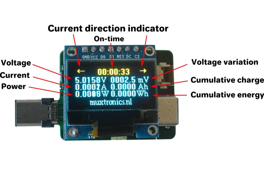 USB type-C power meter (5-digit precision)