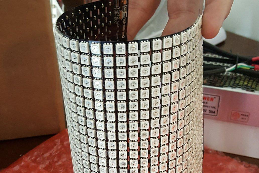 Flexible LED Array 32x32 - WS2812 WS2813 4